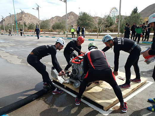 تیم عملیاتی ورزشی شهریار در مسابقات یزد