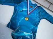 مسابقه ۱۰۰ متر با مانع زنان آتشنشان روسیه در مرحله نیمه نهایی