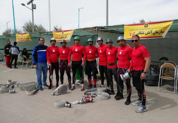 گزارش تصویری مسابقات عملیاتی ورزشی آتشنشانان در شهر یزد