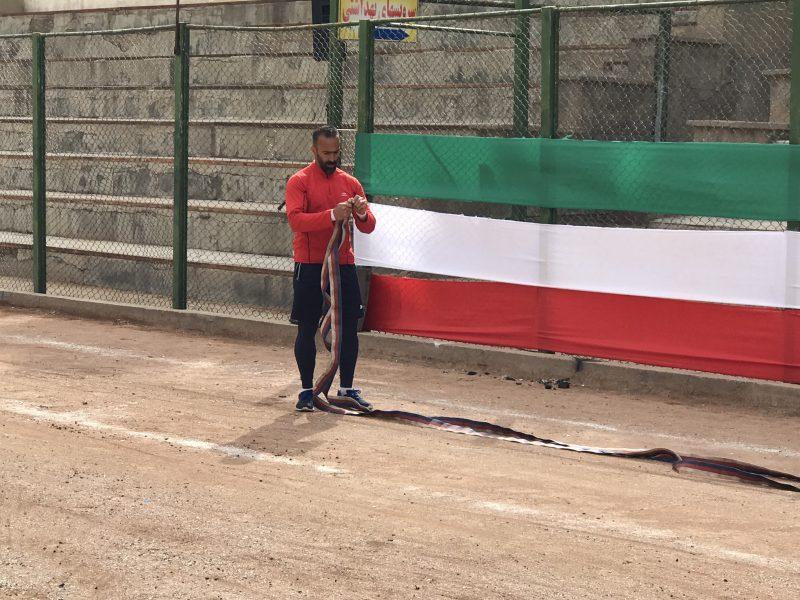 فیلم فینال  ۱۰۰ متر آتشنشانان کشور لیگ  دو سال ۸۸ تبریز با قهرمانی روح الله محمدی