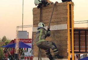 منطقه ۸ عملیات قهرمان مسابقه عملیات ترکیبی آتشنشانان تهران شد