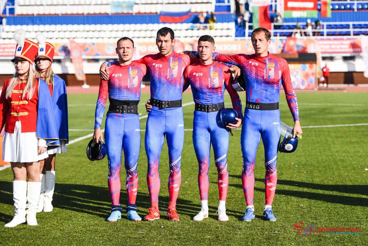 مدال طلای ۴ در ۱۰۰ متر امدادی عملیاتی ورزشی آتشنشانان جهان ۲۰۱۹ به روسیه رسید