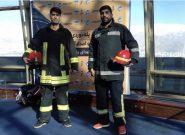 برج میلاد میزبان مسابقات پله نوردی آتشنشانان استان تهران یادواره شهدای پلاسکو